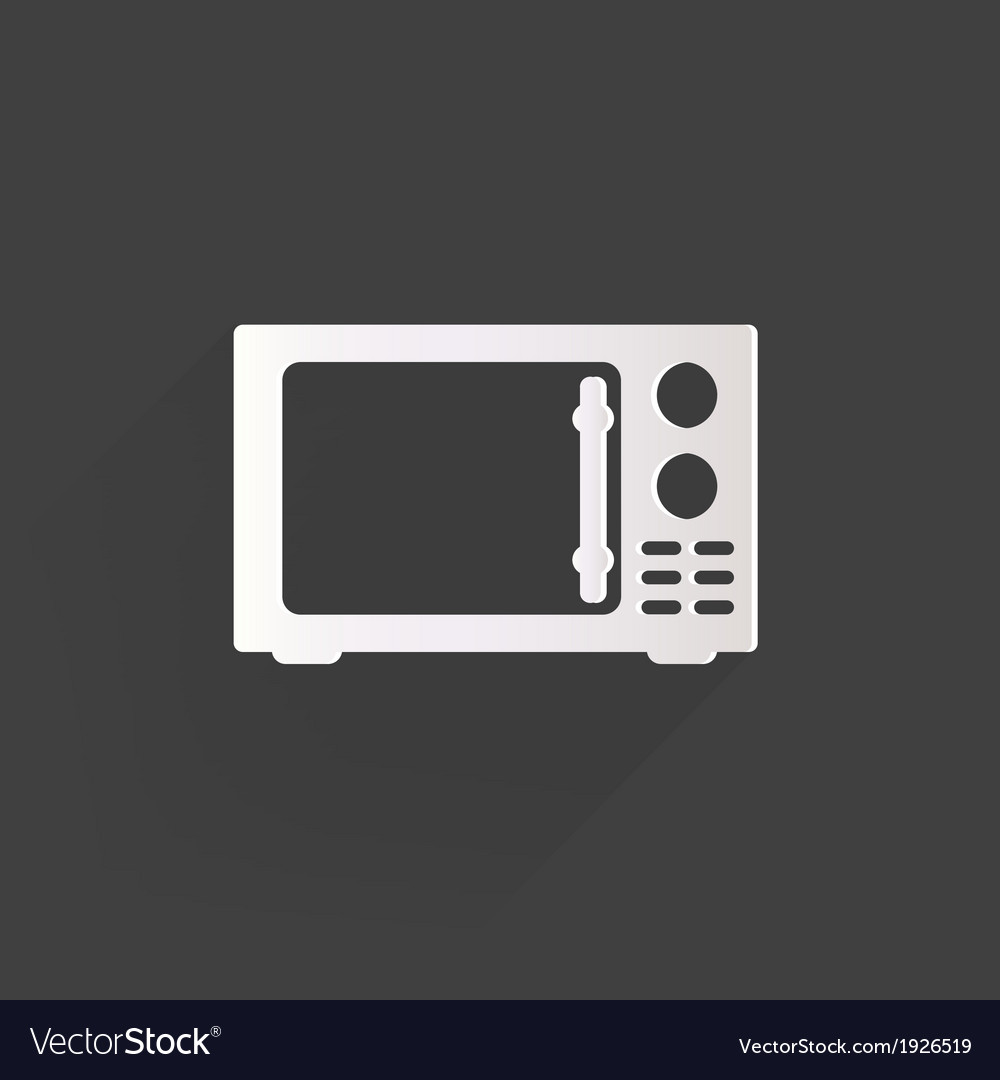Microwave icon kitchen equipment vector | Price: 1 Credit (USD $1)