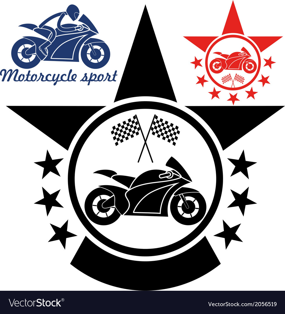 Motorcycle sport vector | Price: 1 Credit (USD $1)