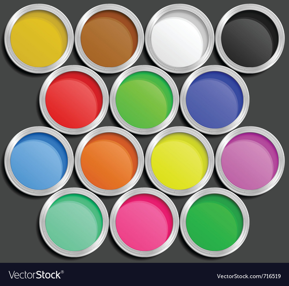 Of paint cans vector | Price: 1 Credit (USD $1)