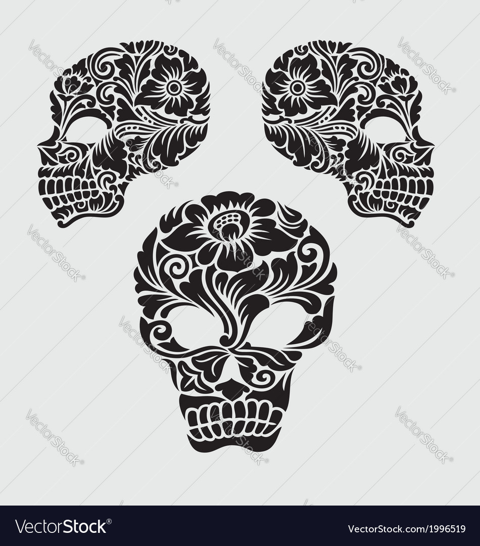 Skull head ornament decoration vector | Price: 1 Credit (USD $1)
