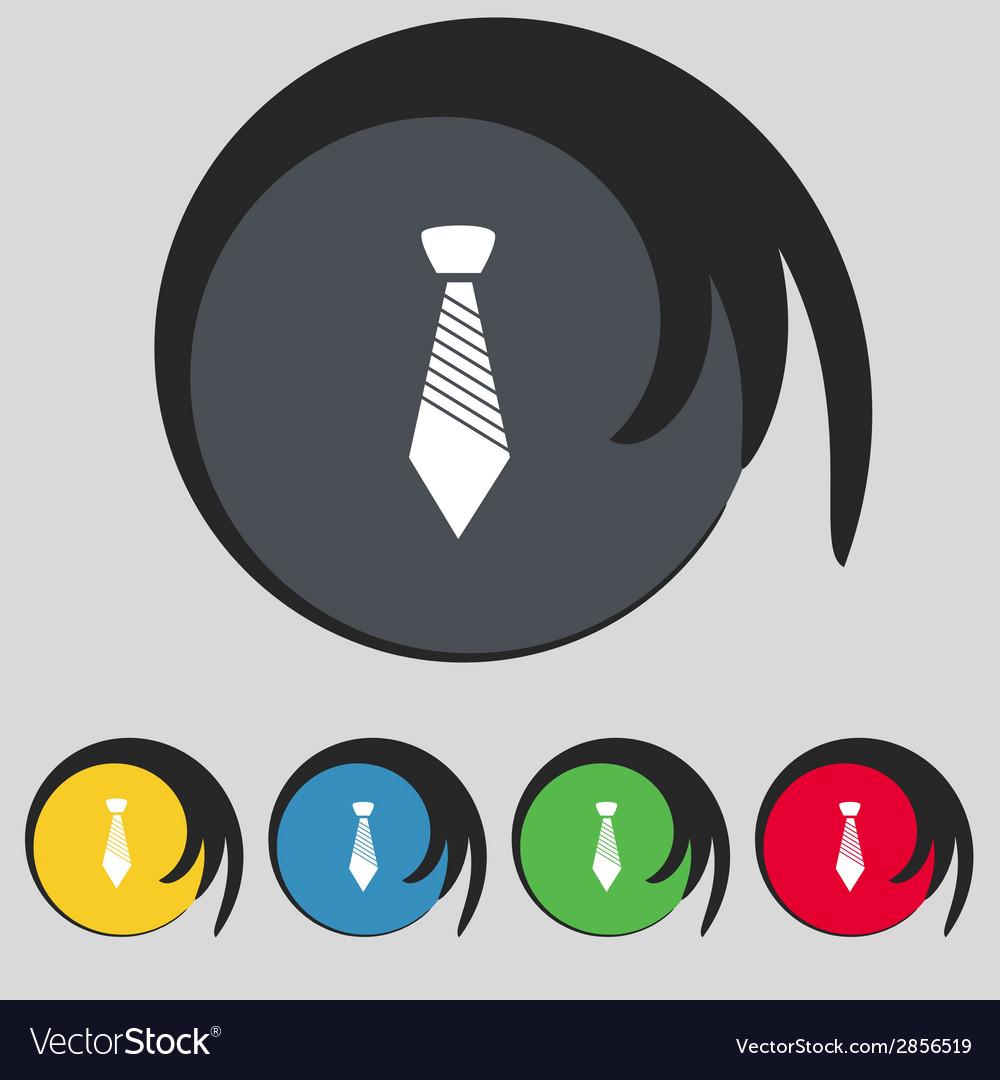 Tie sign icon business clothes symbol set vector | Price: 1 Credit (USD $1)