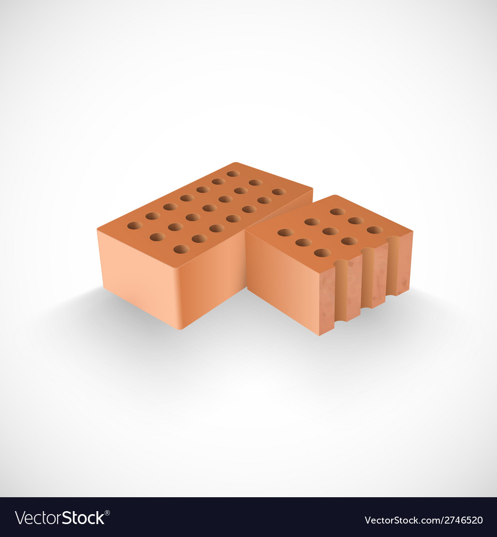 Brick and a half of it realistic template vector | Price: 1 Credit (USD $1)
