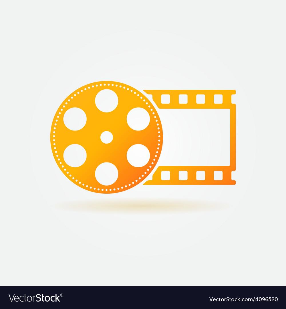 Gold cinema or movie logo vector | Price: 1 Credit (USD $1)