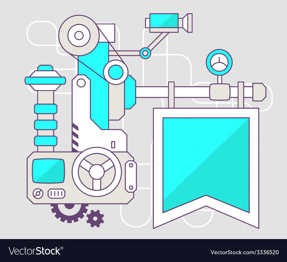 Industrial of the mechanism of flag color l vector | Price: 1 Credit (USD $1)