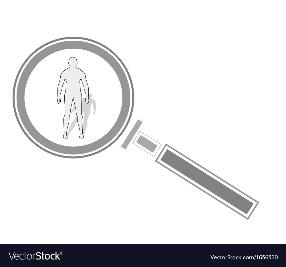 Magnifying glass and human vector | Price: 1 Credit (USD $1)