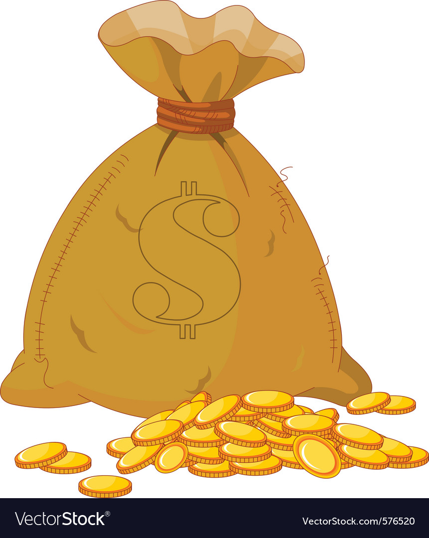 Sack of gold vector | Price: 1 Credit (USD $1)