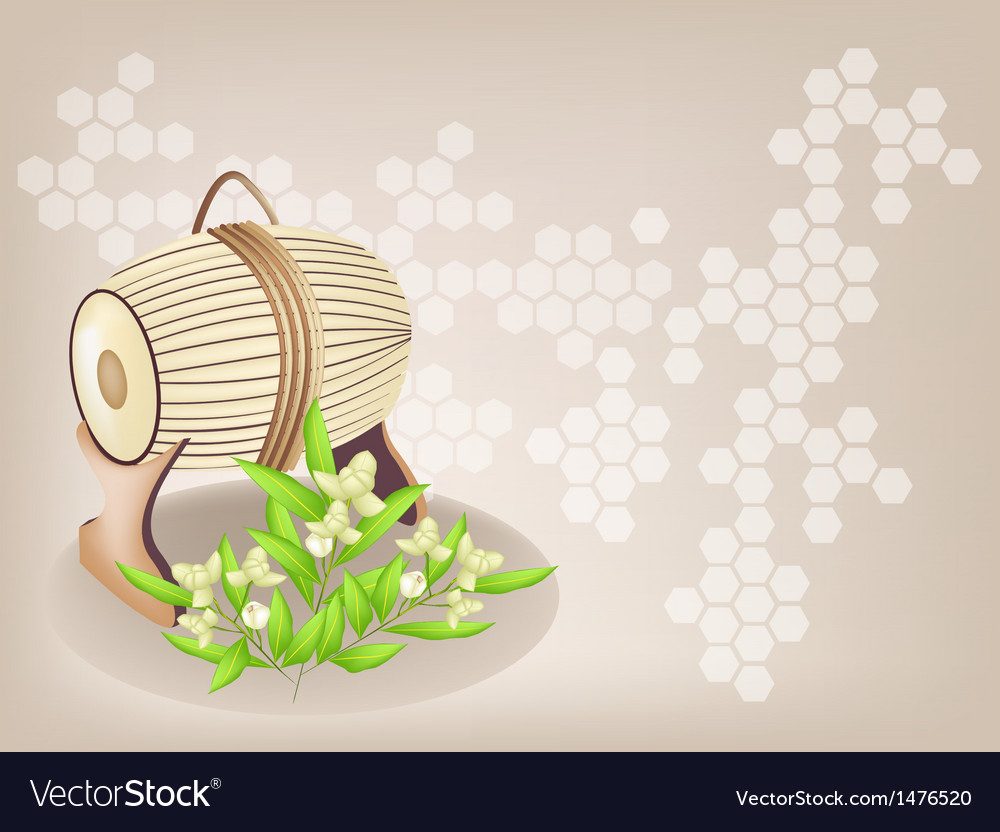 Sampho drum ylang background vector | Price: 1 Credit (USD $1)