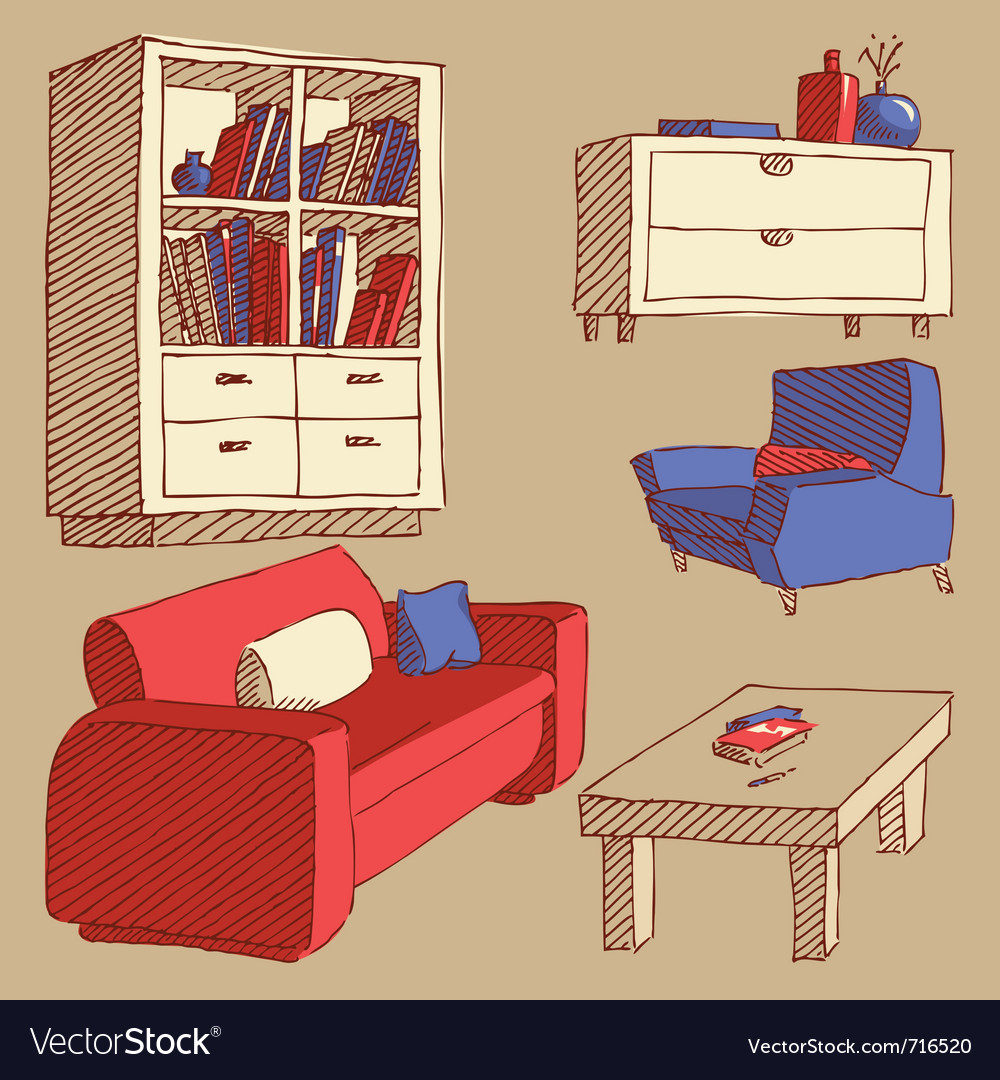 Sketches of furniture vector | Price: 1 Credit (USD $1)