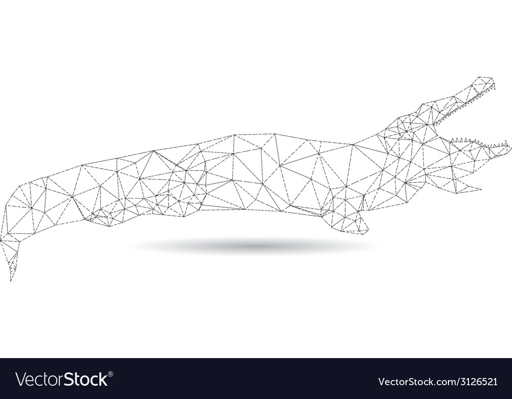 Abstract crocodile vector | Price: 1 Credit (USD $1)