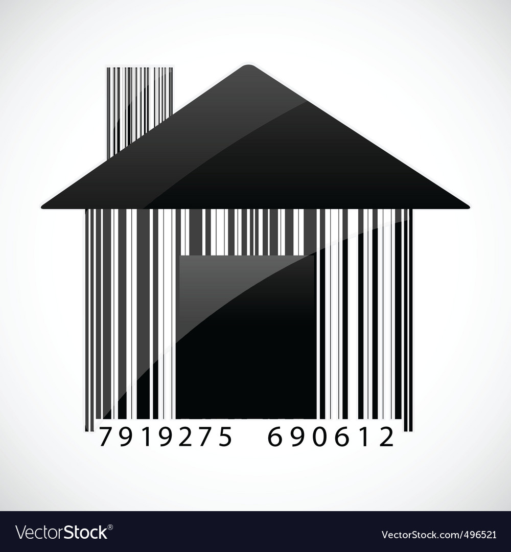 Barcode home vector | Price: 1 Credit (USD $1)