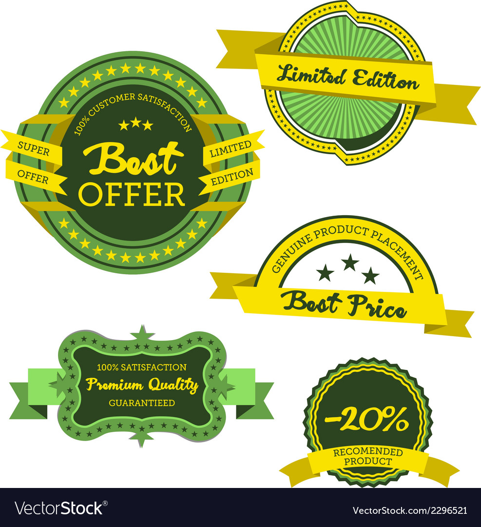 Collection of premium labels vector | Price: 1 Credit (USD $1)