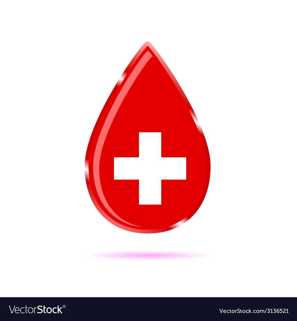 Drop of blood sign color vector | Price: 1 Credit (USD $1)