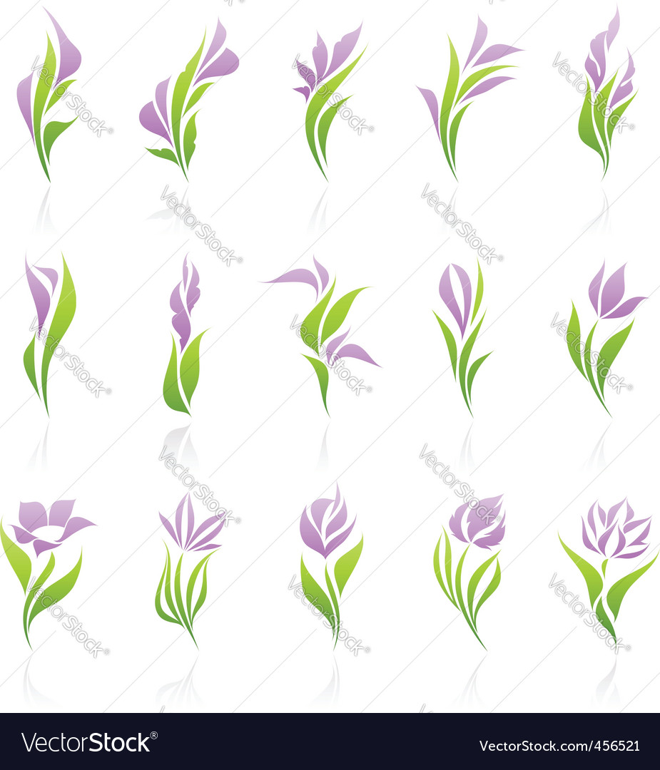 Floral logo template vector | Price: 1 Credit (USD $1)