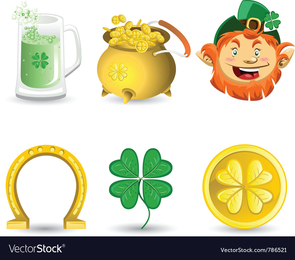 Saint patricks day icons vector | Price: 3 Credit (USD $3)