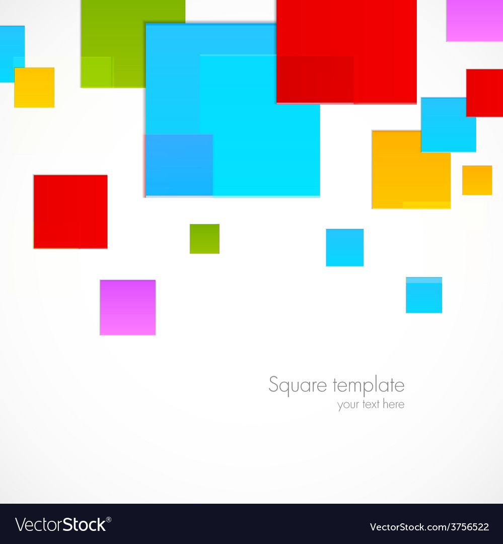 Abstract colorful squares vector | Price: 1 Credit (USD $1)