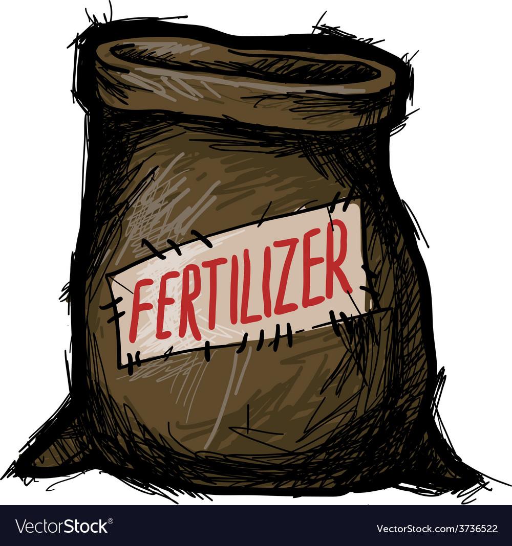 Bag of fertilizers vector | Price: 1 Credit (USD $1)