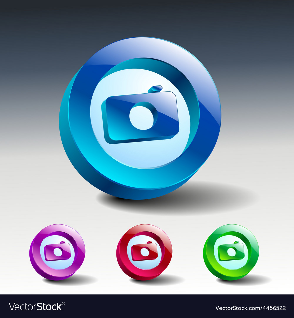 Camera icon symbol lens photo vector | Price: 1 Credit (USD $1)