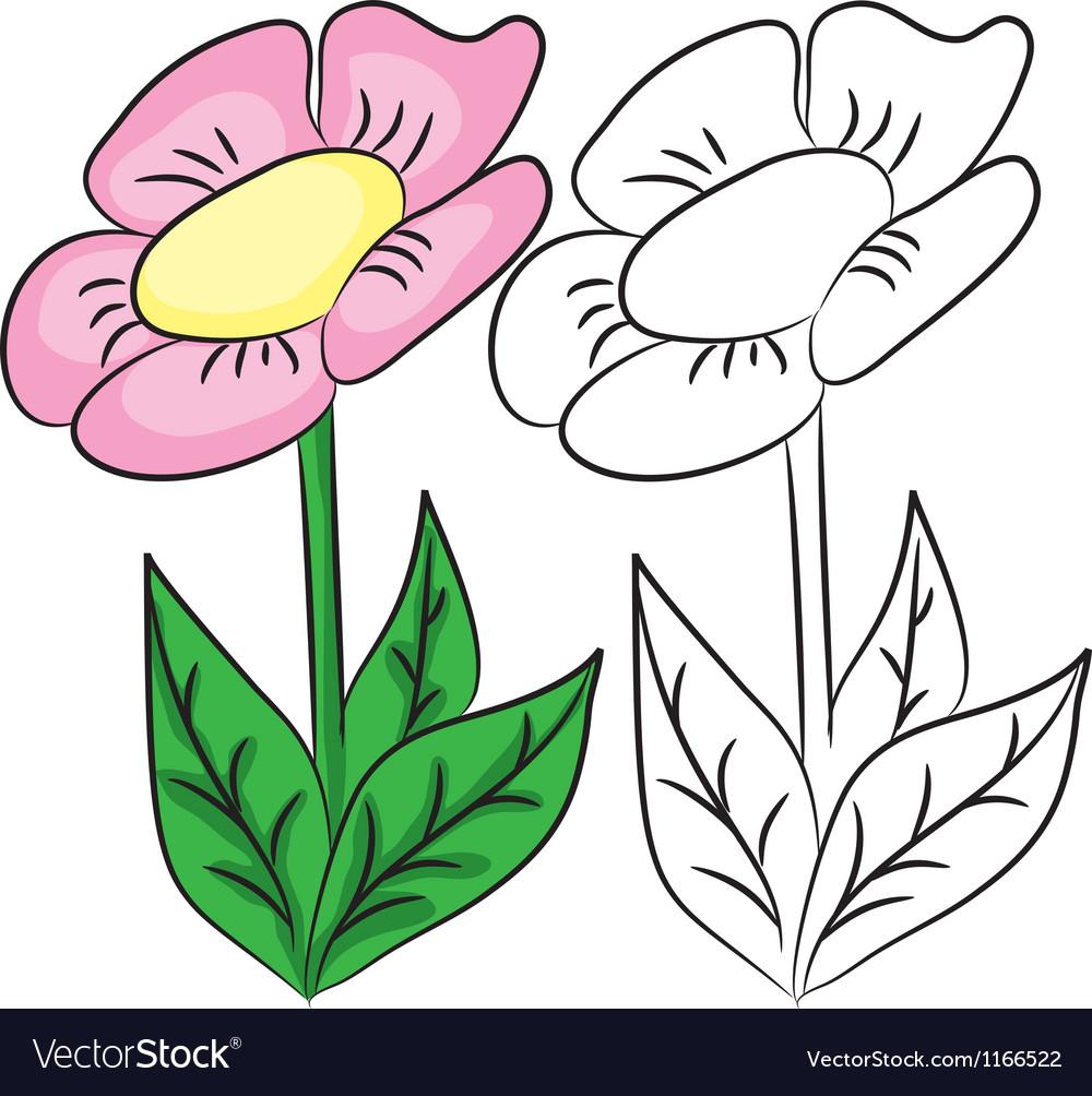 Cartoon flower vector | Price: 1 Credit (USD $1)