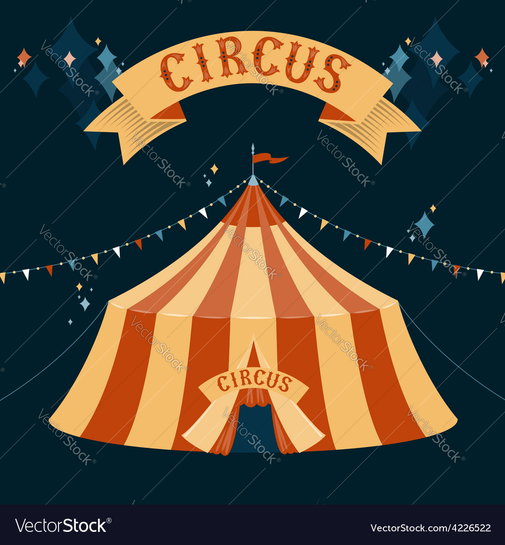 Circus chapiteau vector | Price: 3 Credit (USD $3)
