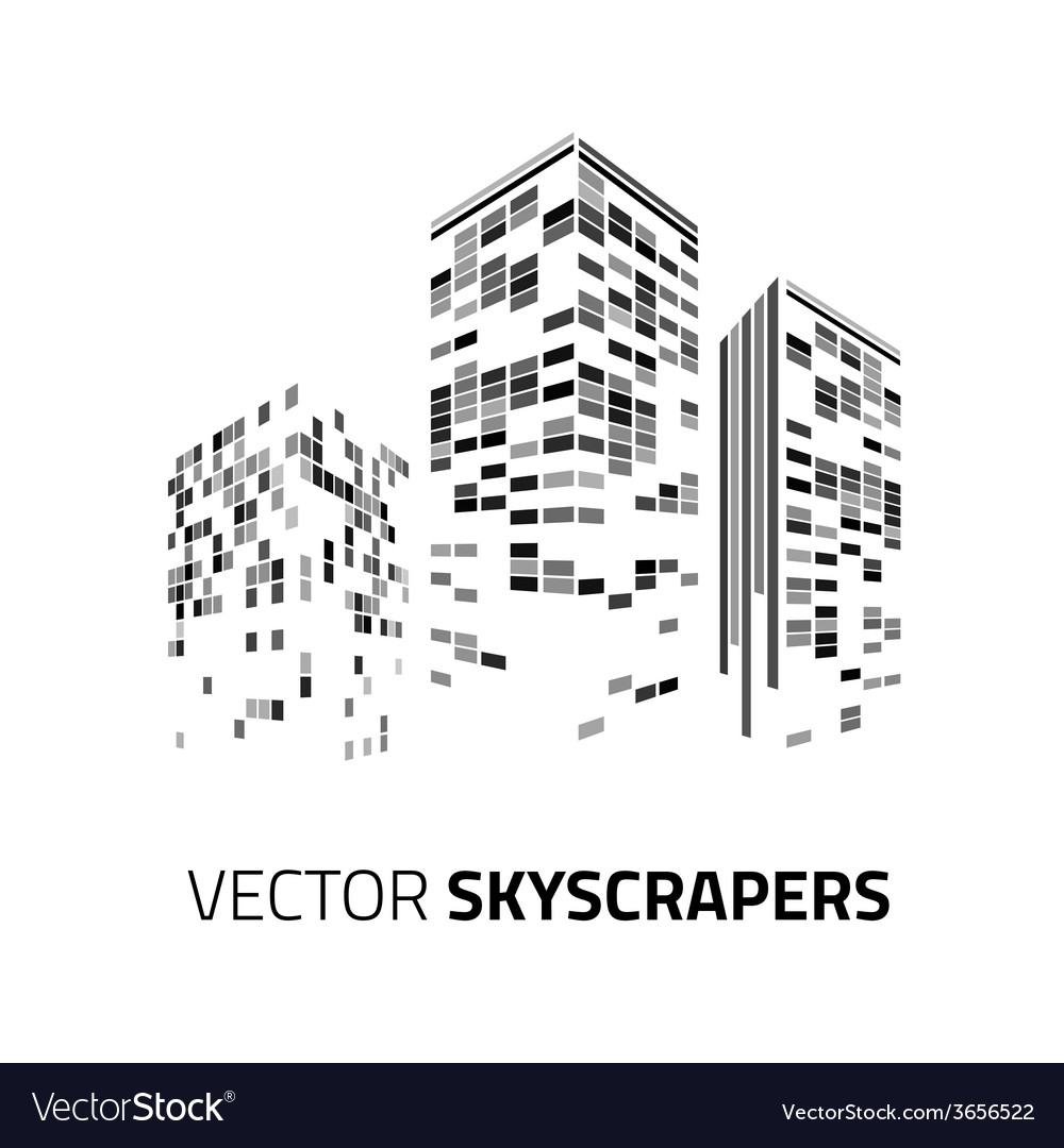 City background - skyscrapers with lights vector   Price: 1 Credit (USD $1)