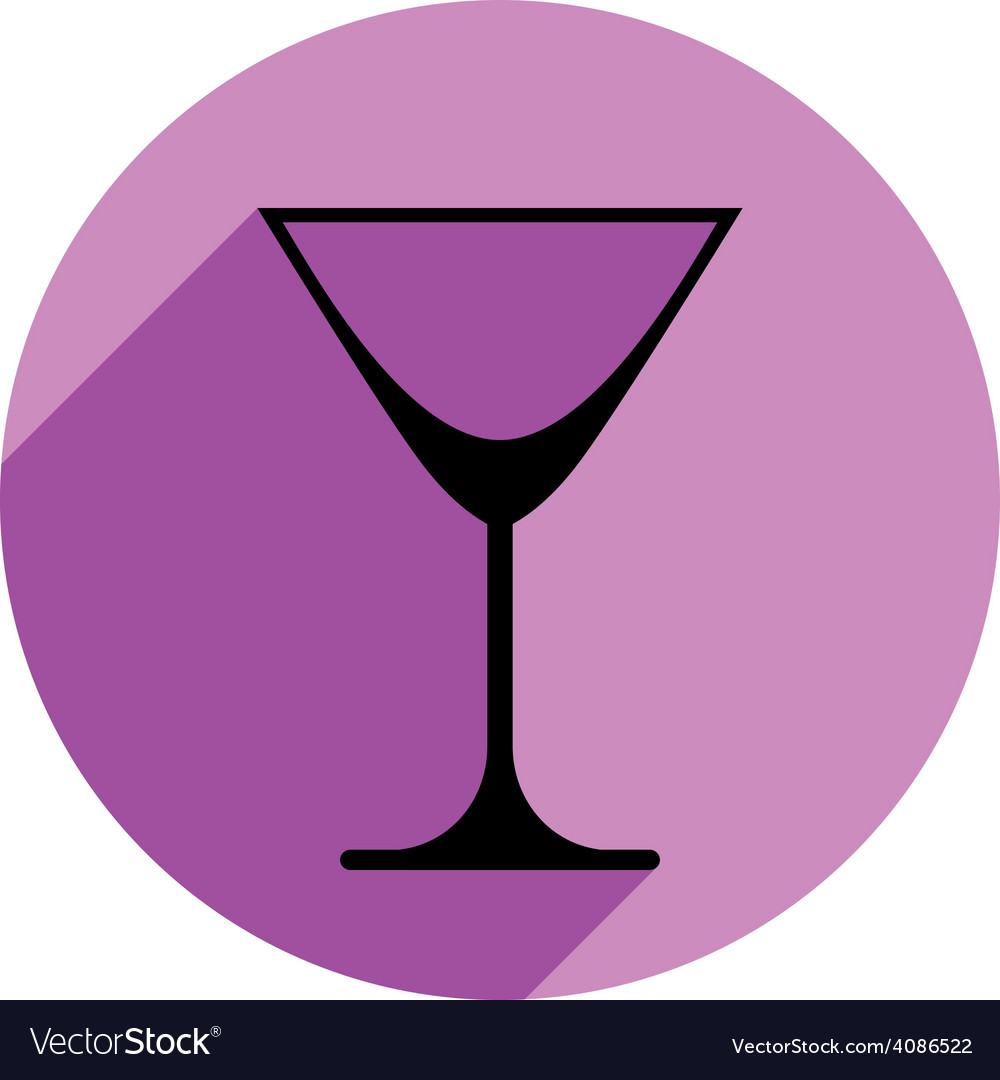 Classic empty martini glass alcohol and vector | Price: 1 Credit (USD $1)
