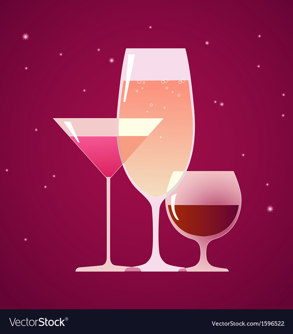 Cocktail brandy and wine vector | Price: 1 Credit (USD $1)