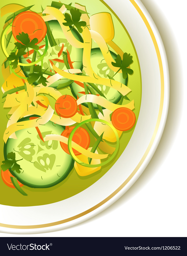 Cucumber soup vector | Price: 1 Credit (USD $1)