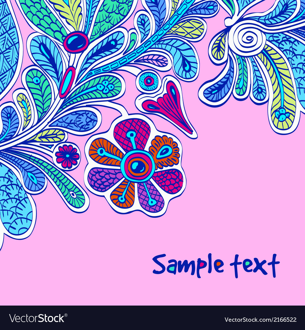 Floral and decorative background vector   Price: 1 Credit (USD $1)
