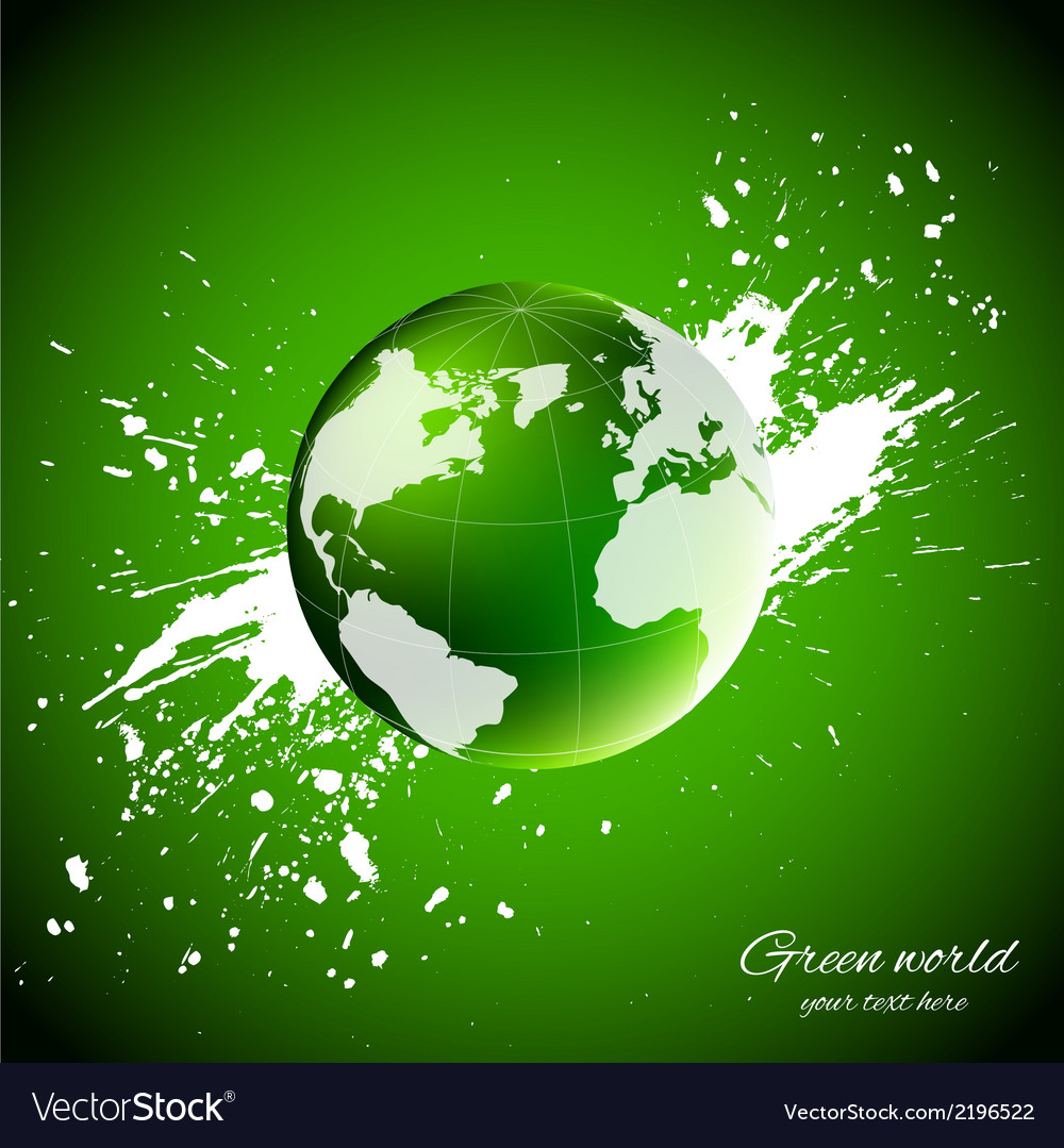 Green world ecology concept vector | Price: 1 Credit (USD $1)