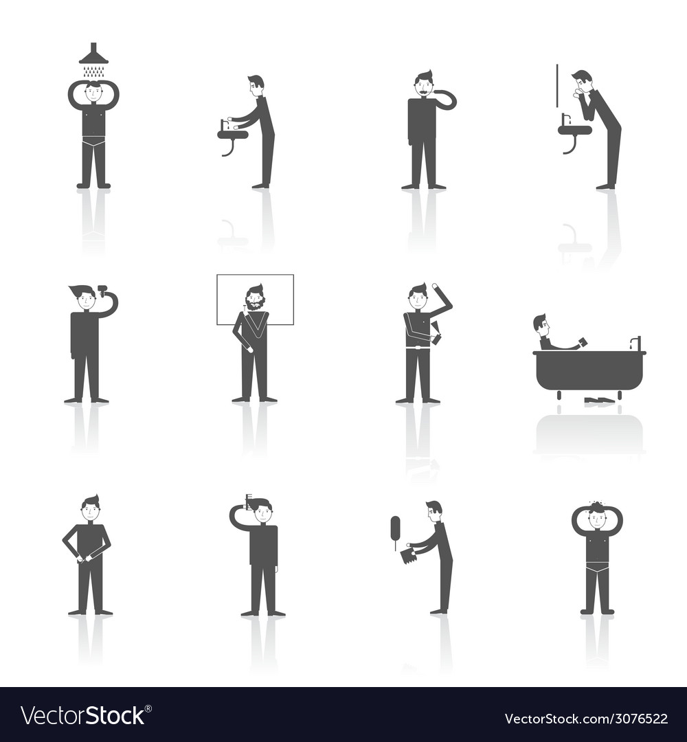 Hygiene icons set vector | Price: 1 Credit (USD $1)