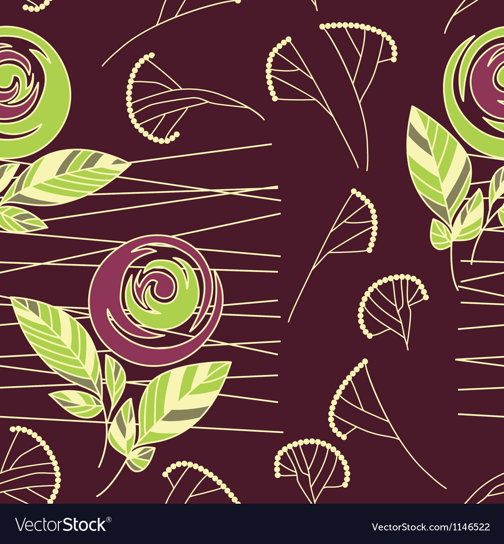 Seamless vintage rose pattern background vector | Price: 1 Credit (USD $1)