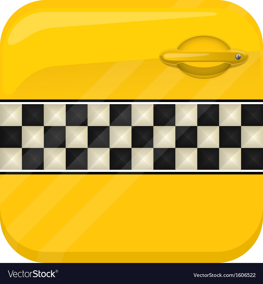 Taxi door app icon vector | Price: 1 Credit (USD $1)