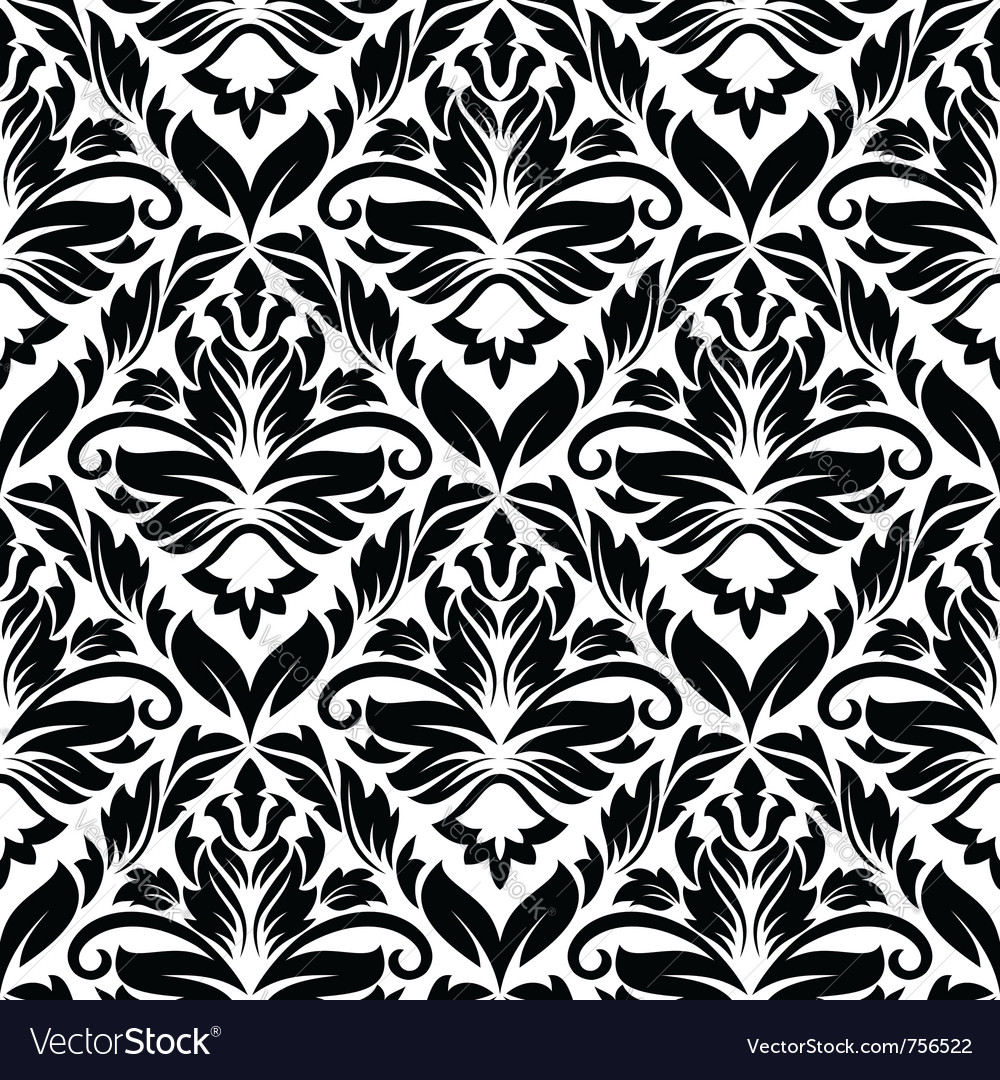 White and black seamless pattern vector | Price: 1 Credit (USD $1)