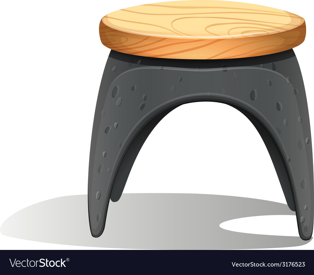 A plastic chair with a wooden seat vector | Price: 1 Credit (USD $1)