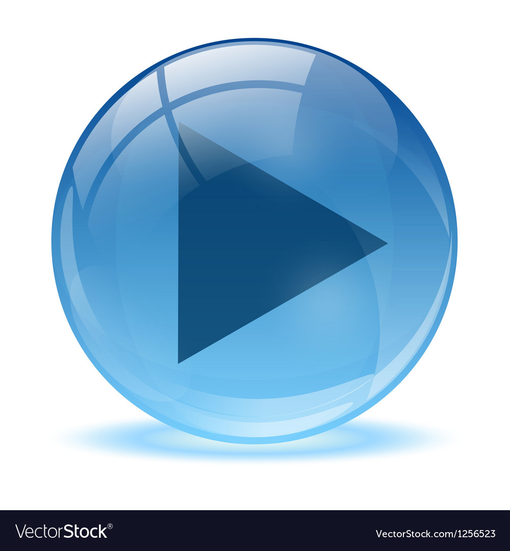 Blue abstract 3d play icon vector | Price: 1 Credit (USD $1)