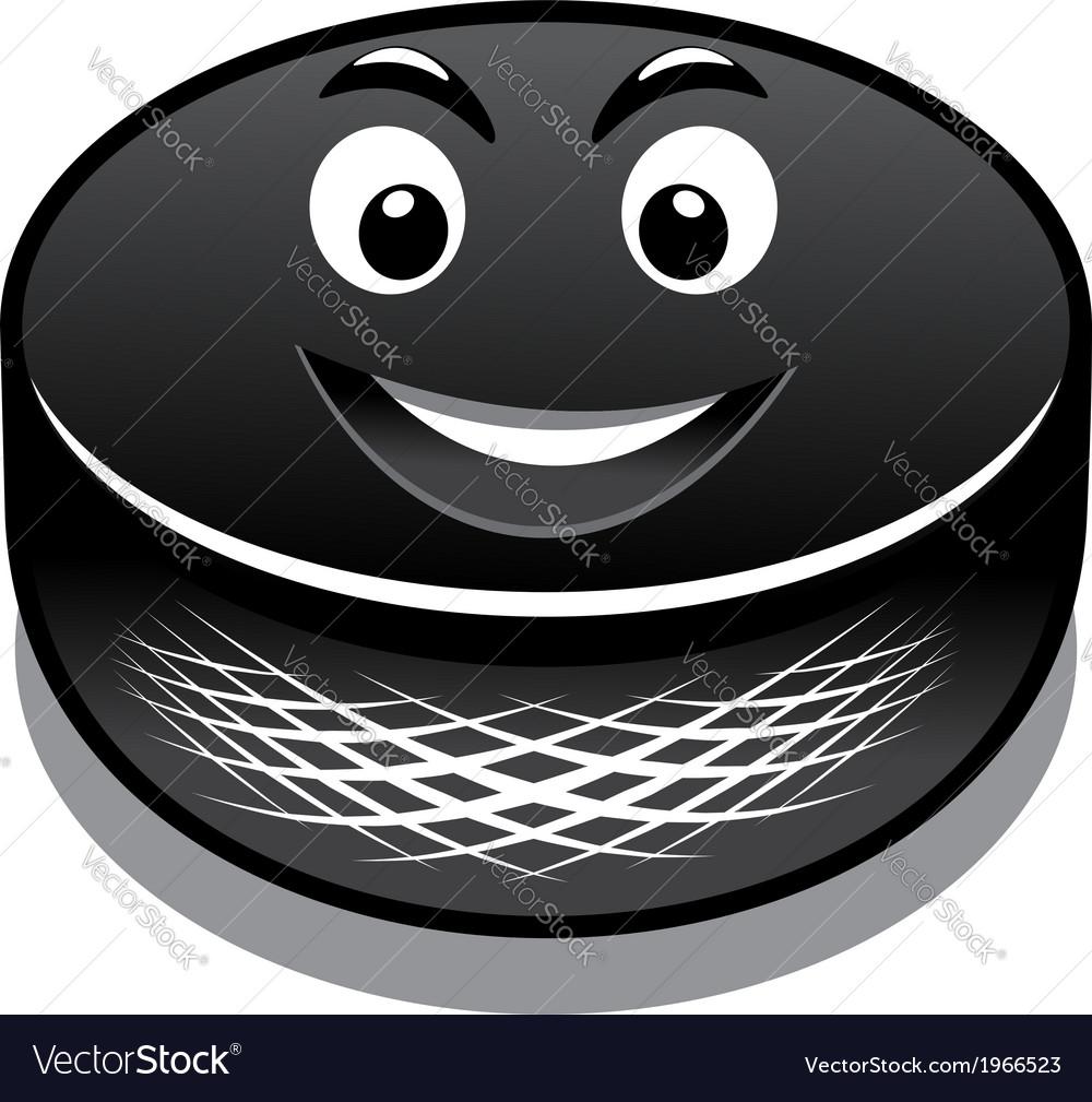 Cartoon hockey puck vector | Price: 1 Credit (USD $1)