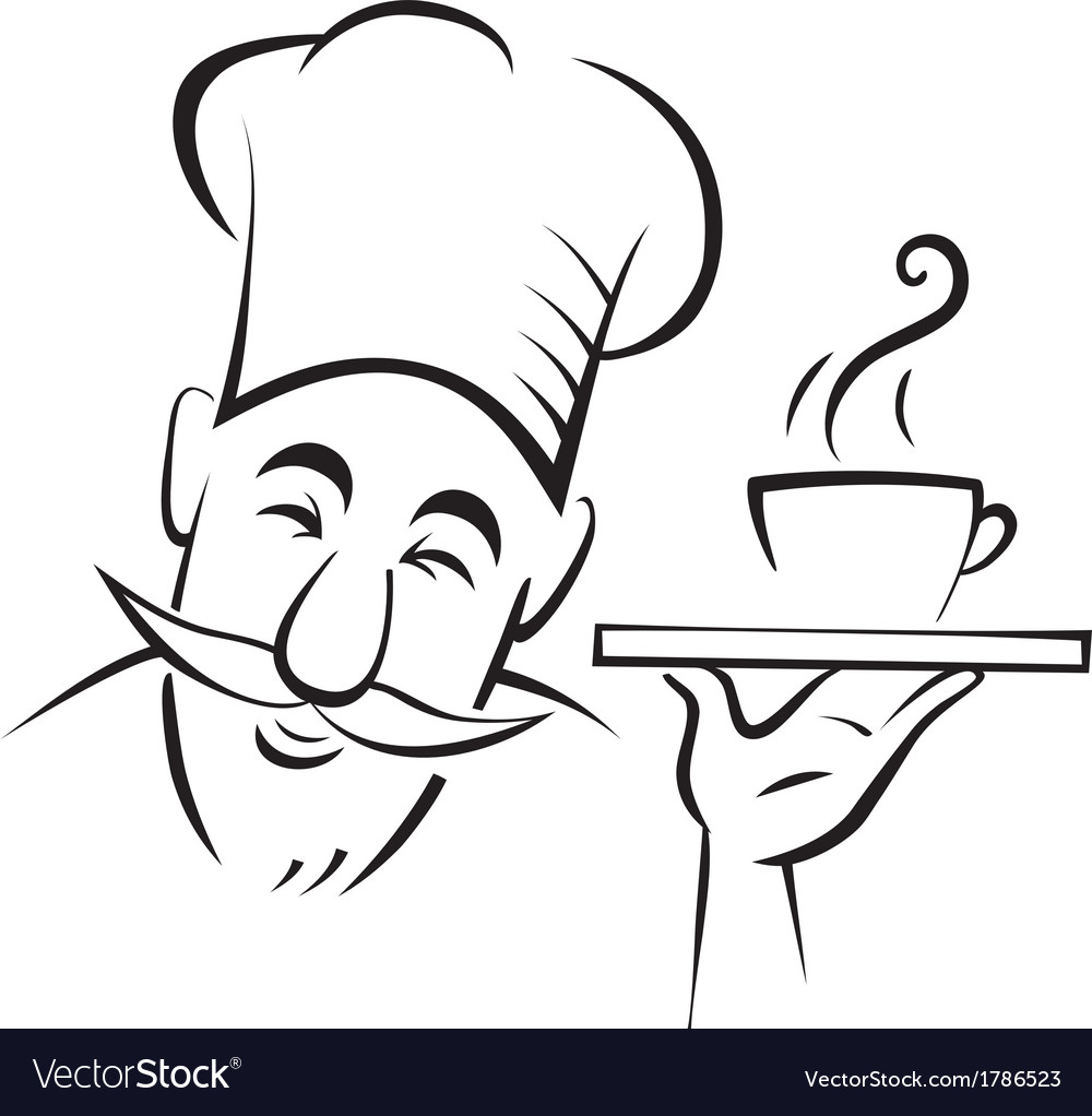 Chef cook contour vector | Price: 1 Credit (USD $1)