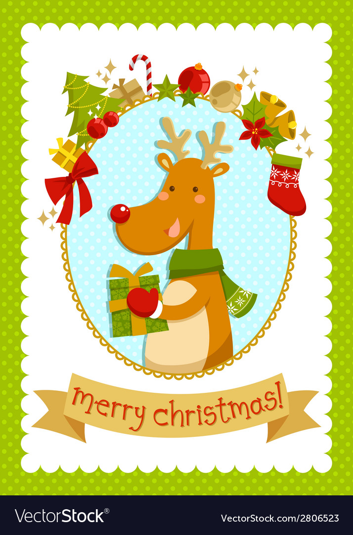 Christmas deer stock small vector | Price: 1 Credit (USD $1)