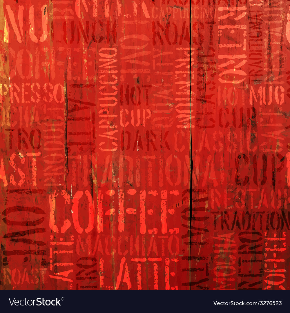 Coffee experience words on red vector | Price: 1 Credit (USD $1)