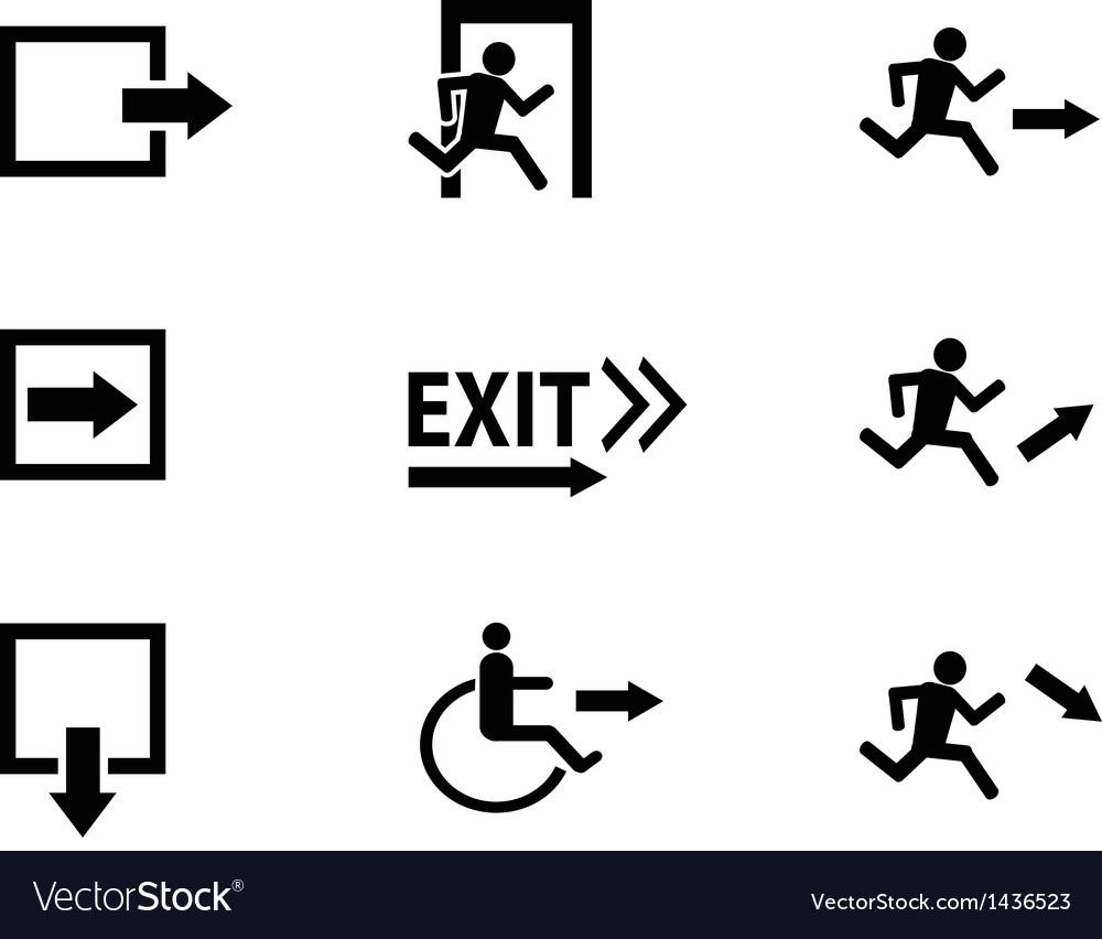 Exit icon vector | Price: 1 Credit (USD $1)