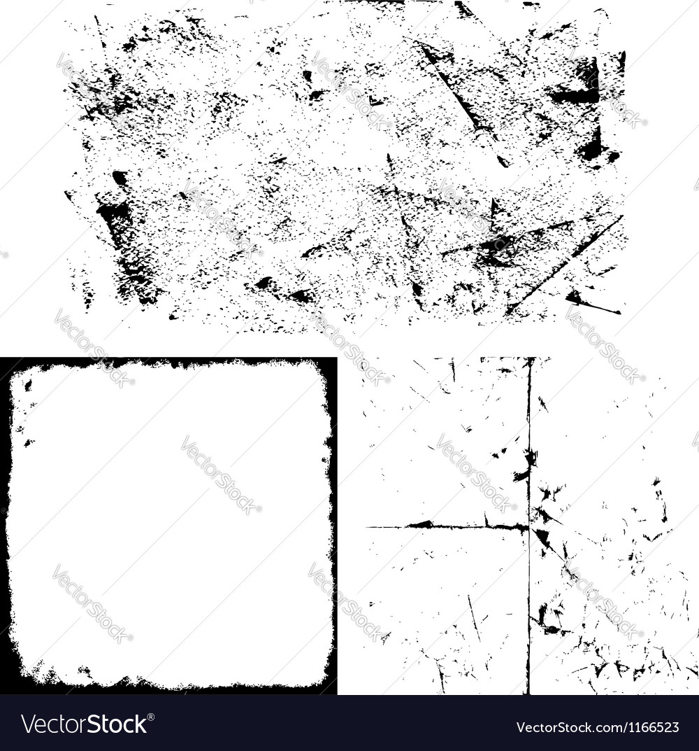 Grunge overlay set vector | Price: 1 Credit (USD $1)