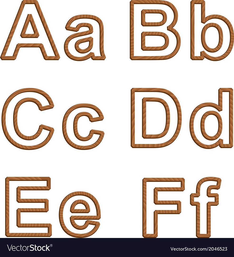 Letters with texture of wood vector | Price: 1 Credit (USD $1)