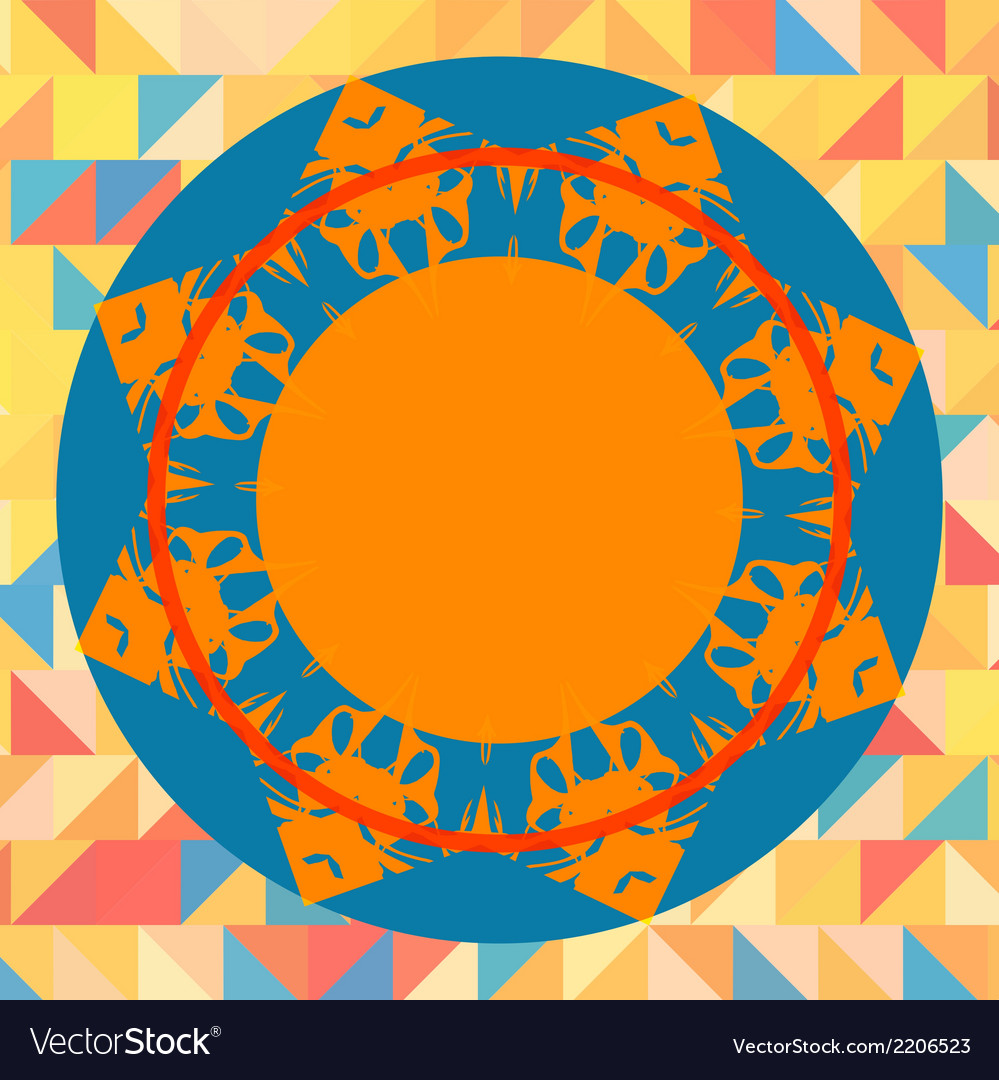 Mandala like round frame for text vector | Price: 1 Credit (USD $1)