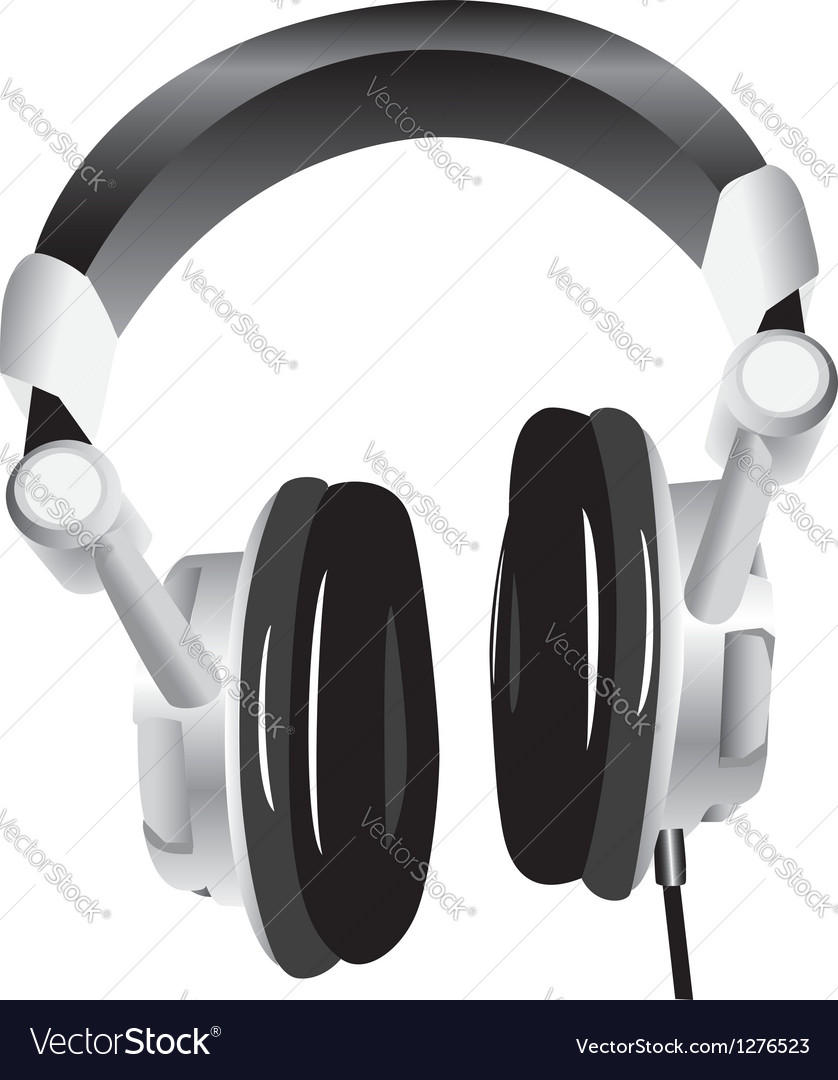 Modern headphones vector | Price: 1 Credit (USD $1)