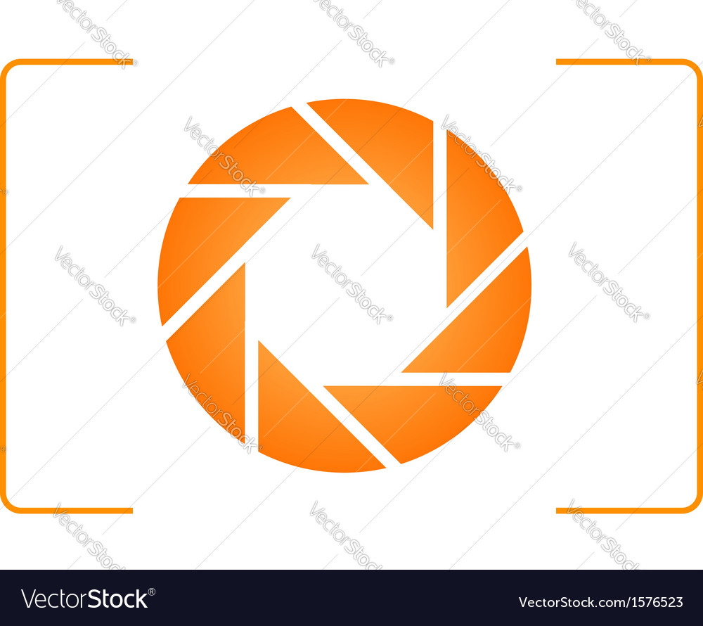 Orange photography logo vector | Price: 1 Credit (USD $1)