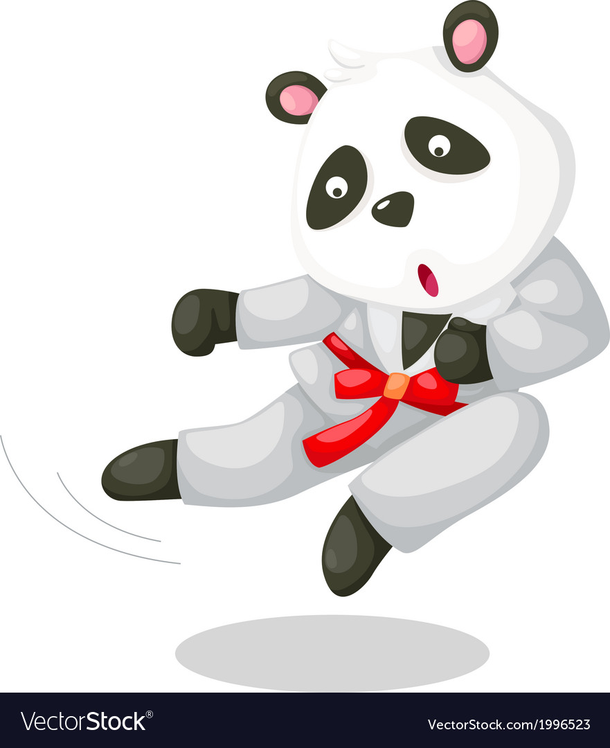 Panda karate vector | Price: 1 Credit (USD $1)