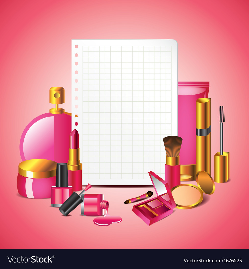 Paper cosmetics vector | Price: 1 Credit (USD $1)