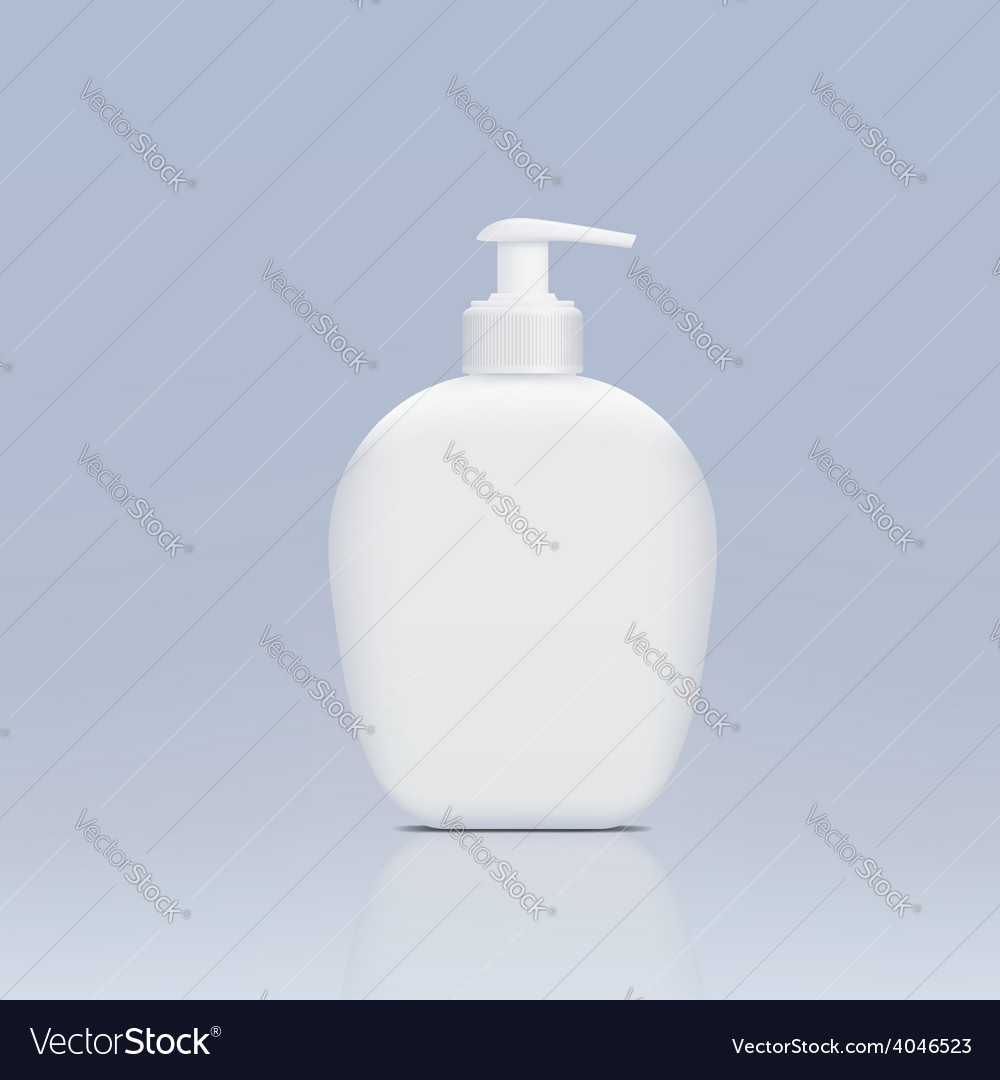 Plastic bottle with a dispenser for liquid soap vector | Price: 1 Credit (USD $1)