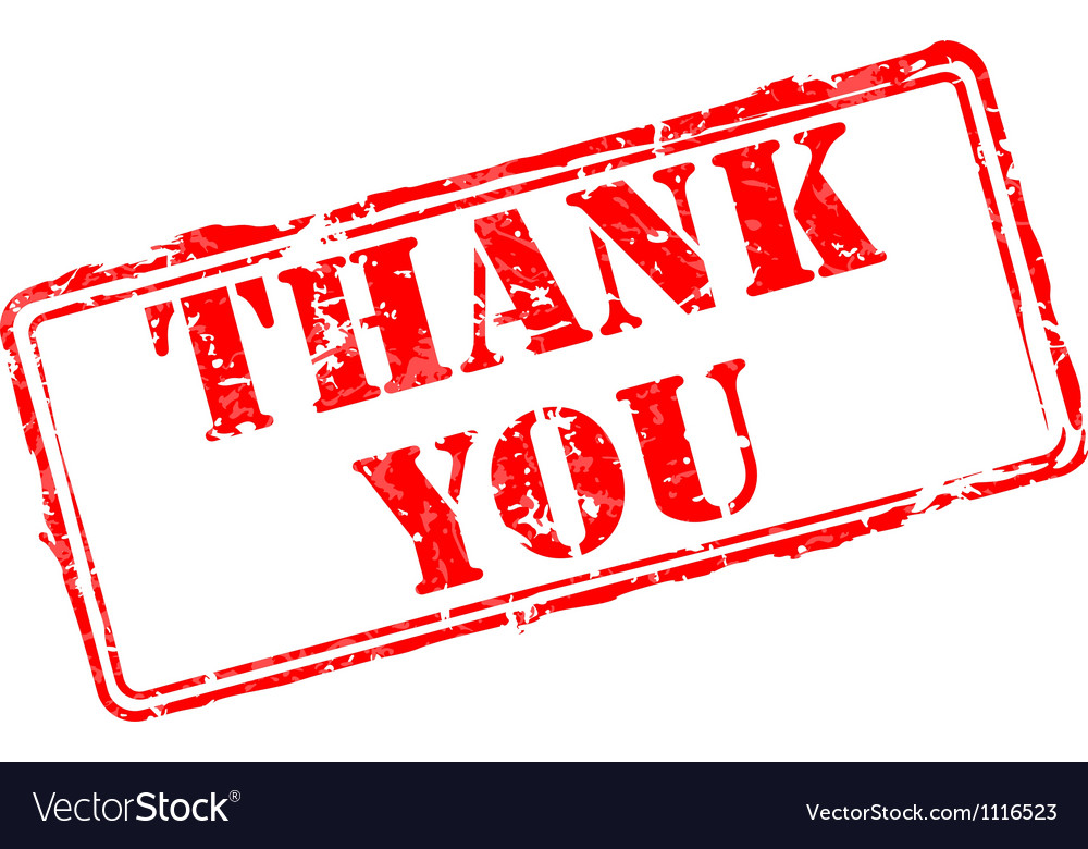 Thank you rubber stamp vector | Price: 1 Credit (USD $1)