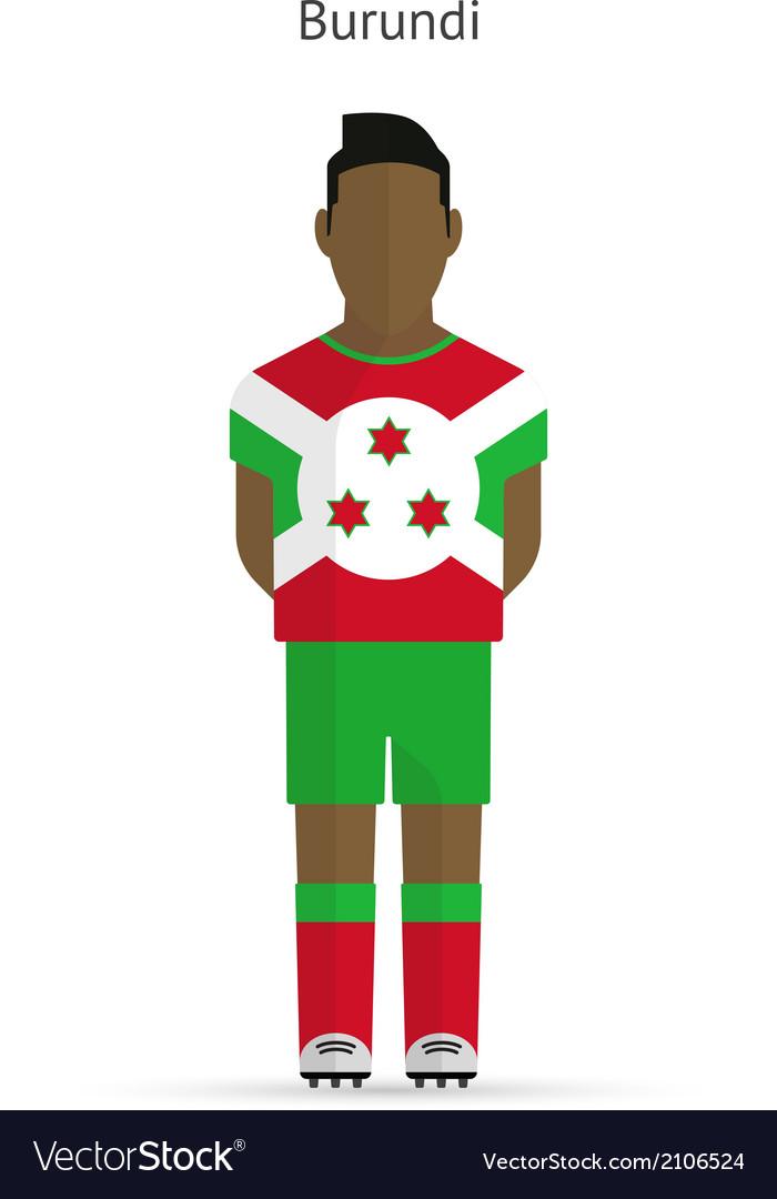 Burundi football player soccer uniform vector | Price: 1 Credit (USD $1)
